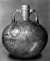0173024 © Granger - Historical Picture ArchiveARABIC FLAGON, c1300.   Arabic flagon of gilt and enamelled glass, probably from Damascus, Syria, c1300.