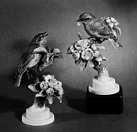 0173047 © Granger - Historical Picture ArchiveDOUGHTY: PORCELAIN BIRDS.   Porcelain figures of American birds by British artist Dorothy Doughty, early or mid 20th century.