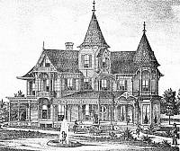 0016469 © Granger - Historical Picture ArchiveNEW JERSEY: ATWOOD HOUSE.   The George Atwood residence in Hackensack, New Jersey. Wood engraving, c1876.