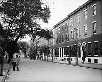 0119430 © Granger - Historical Picture ArchivePHILADELPHIA: ROW HOUSE.   A view of the row houses on Park Avenue in Philadelphia, Pennsylvania. Photograph, early 20th century.