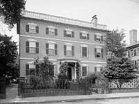 0131243 © Granger - Historical Picture ArchiveGARDNER-PINGREE HOUSE.   The Federal style Gardner-Pingree House at 128 Essex Street in Salem, Massachusetts, built by Samuel McIntire in 1804. Photograph, c1906.