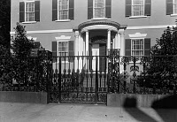 0131245 © Granger - Historical Picture ArchiveGARDNER-PINGREE HOUSE.   The Federal style Gardner-Pingree House at 128 Essex Street in Salem, Massachusetts, built by Samuel McIntire in 1804. Photograph, c1938.