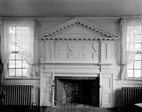 0165668 © Granger - Historical Picture ArchiveNORTH CAROLINA: FIREPLACE.   Fireplace flanked by radiators in the Cupola House in Edenton, North Carolina, built in 1758. Photographed by Frances Benjamin Johnston, 1936.