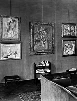 0326274 © Granger - Historical Picture ArchiveFLECHTHEIM HOUSE, 1929.   Paintings by Pablo Picasso, including 'Guitar and Sheet Music', in the house of Alfred Flechtheim at Bleibtreustrasse 15 in Berlin, Germany. Photograph, 1929. Full credit: Zander & Labisch - ullstein bild / Granger, NYC.