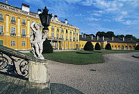 0355939 © Granger - Historical Picture ArchiveART & ARCHITECTURE.   Courtyard, Eszterhaza Palace (1720-1766), Fertod, Gyor-Sopron, Hungary. Full Credit: De Agostini / S. Vannini / Granger, NYC -- All rights reserved.