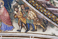 0355953 © Granger - Historical Picture ArchiveART & ARCHITECTURE.   Pastors, detail from the fresco cycle Stories of the Virgin (1424), by Ottaviano Nelli (1375-1444), Chapel of Trinci Palace, Foligno, Umbria, Italy. Full Credit: De Agostini / S. Vannini / Granger, NYC -- All rights re