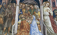 0355960 © Granger - Historical Picture ArchiveART & ARCHITECTURE.   The Marriage of the Virgin, detail from the fresco cycle Stories of the Virgin (1424), by Ottaviano Nelli (1375-1444), Chapel of Trinci Palace, Foligno, Umbria, Italy. Full Credit: De Agostini / S. Vannini / Granger, NYC -- All Rights Reserved.
