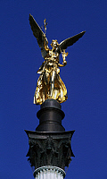 0355974 © Granger - Historical Picture ArchiveART & ARCHITECTURE.   Angel of Peace (Friedenensengel) (1896-1899), designed by Jacob Mohl, Monaco, Bavaria, Germany. Full Credit: De Agostini / W. Buss / Granger, NYC -- All right