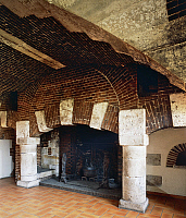 0356114 © Granger - Historical Picture ArchiveART & ARCHITECTURE.   The kitchens, Chateau de Chambray (16th-18th century), Upper Normandy, France. Full Credit: De Agostini / G. Dagli Orti / Granger, NYC -- All rights reserved.