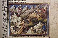 0356265 © Granger - Historical Picture ArchiveART & ARCHITECTURE.   Hunting scene, illustration from the Livre de Chasse, medieval treatise on hunting (1387-1389), by Gaston III, Count of Foix known as Gaston Phoebus, miniature (14th century), Moncade tower (13th century), Orthez, Aquitaine, France. Full Credit: De Agostini / C. Sappa / Granger, NYC -- All Rights Reserved.
