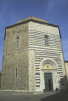 0356378 © Granger - Historical Picture ArchiveART & ARCHITECTURE.   Baptistery of St John (13th century), Volterra, Tuscany, Italy. Full Credit: De Agostini / R. Carnovalini / Granger, NYC -- All rights reserved.