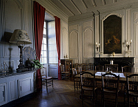 0356944 © Granger - Historical Picture ArchiveART & ARCHITECTURE.   The dining room, Chateau de Gizeux (16th-17th century), Gizeux, Centre, France. Full Credit: De Agostini / G. Dagli Orti / Granger, NYC -- All rights reserved
