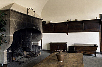 0357137 © Granger - Historical Picture ArchiveART & ARCHITECTURE.   View of the kitchen, Castle of the Bruneaux, Firminy, Rhone-Alpes, France. Full Credit: De Agostini / C. Sappa / Granger, NYC -- All rights reserved.