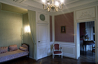 0357139 © Granger - Historical Picture ArchiveART & ARCHITECTURE.   View of the Louis XVI room, Castle of the Bruneaux, Firminy, Rhone-Alpes, France. Full Credit: De Agostini / C. Sappa / Granger, NYC -- All rights reserved.