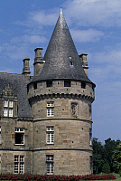 0357379 © Granger - Historical Picture ArchiveART & ARCHITECTURE.   Tower, Bonnefontaine Castle, Antrain, Brittany, France. Full Credit: De Agostini / W. Buss / Granger, NYC -- All Rights Reserved.