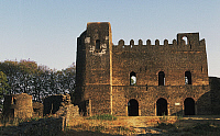 0357523 © Granger - Historical Picture ArchiveART & ARCHITECTURE.   Iyasu's Palace, Fasil Ghebbi, fortress, Gondar (Unesco World Heritage List, 1979), Ethiopia. Full Credit: De Agostini / W. Buss / Granger, NYC -- All rights r