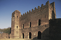0357525 © Granger - Historical Picture ArchiveART & ARCHITECTURE.   Iyasu's Palace, Fasil Ghebbi, fortress, Gondar (Unesco World Heritage List, 1979), Ethiopia. Full Credit: De Agostini / W. Buss / Granger, NYC -- All rights r