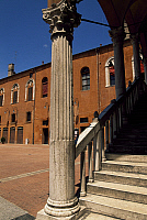 0357698 © Granger - Historical Picture ArchiveART & ARCHITECTURE.   View of the Town Hall Square from the Grand Staircase of Honour, Ferrara (Unesco World Heritage List, 1995), Emilia-Romagna, Italy. Full Credit: De Agostini / G. Sosio / Granger, NYC -- All rights reserved.