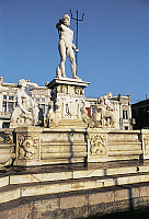 0357803 © Granger - Historical Picture ArchiveART & ARCHITECTURE.   Fountain of Neptune, 1557, by Giovanni Angelo Montorsoli (1506-ca 1563), Messina, Sicily, Italy. Full Credit: De Agostini / F. Barbagallo / Granger, NYC -- All Rights Reserved.