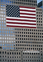 0358147 © Granger - Historical Picture ArchiveART & ARCHITECTURE.   American flag, commemorating the attack on the World Trade Center, Ground 0, New York, United States. Full Credit: De Agostini / S. Vannini / Granger, NYC -- All Rights Reserved.