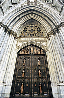 0358155 © Granger - Historical Picture ArchiveART & ARCHITECTURE.   Entrance to St Patrick's Cathedral (19th century), 5th Avenue, New York, United States. Full Credit: De Agostini / S. Vannini / Granger, NYC -- All rights res