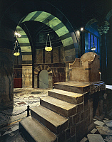 0358300 © Granger - Historical Picture ArchiveART & ARCHITECTURE.   Throne of Charlemagne in the Palatine Chapel (786-804), Aachen Cathedral (8th-16th century) (Unesco World Heritage List, 1978), Rhineland-Westphalia, Germany. Full Credit: De Agostini / S. Vannini / Granger, NYC -- All Rights Reserved.