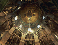 0358302 © Granger - Historical Picture ArchiveART & ARCHITECTURE.   Octagonal interior, Palatine Chapel (786-804), Aachen Cathedral (8th-16th century) (Unesco World Heritage List, 1978), Rhineland-Westphalia, Germany. Full Credit: De Agostini / S. Vannini / Granger, NYC -- All rights r