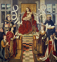 0358527 © Granger - Historical Picture ArchiveART & ARCHITECTURE.   Virgin of the Catholic Kings, 1490-1495, by Fernando Gallegos (active 1468-1507), tempera on canvas, 123x112 cm. Spain, 15th century. Full Credit: De Agostini Picture Library / Granger, NYC -- All rights reserved.