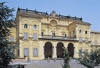 0359052 © Granger - Historical Picture ArchiveART & ARCHITECTURE.   Facade, Villa Falconieri known as La Rufina (16th century), Frascati, Lazio, Italy. Full Credit: De Agostini / A. De Gregorio / Granger, NYC -- All rights res