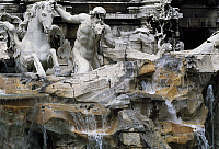 0359078 © Granger - Historical Picture ArchiveART & ARCHITECTURE.   Trevi Fountain (18th century), designed by Nicola Salvi (1697-1751), Rome (UNESCO World Heritage List, 1980), Lazio, Italy. Detail. Full Credit: De Agostini / G. Berengo Gardin / Granger, NYC -- All rights reserved.