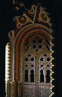 0359142 © Granger - Historical Picture ArchiveART & ARCHITECTURE.   False window decorated with stucco, Sammezzano Castle (17th century), Regello, Tuscany, Italy. Full Credit: De Agostini Picture Library / Granger, NYC -- All Rights Reserved.