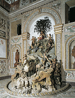 0359277 © Granger - Historical Picture ArchiveART & ARCHITECTURE.   The Parnassus (17th century), by Giovanni Anguilla and Jacques Sarrazin (1592-1660), wooden, stucco and wrought iron sculpture group, Apollo room, Villa Aldobrandini, Frascati, Lazio, Italy. Full Credit: De Agostini / A. De Gregorio / Granger, NYC -- All rights reserved.