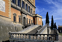 0359448 © Granger - Historical Picture ArchiveART & ARCHITECTURE.   The stairs in front of Farnese Palace (16th century), Caprarola, Lazio, Italy. Full Credit: De Agostini / G. Berengo Gardin / Granger, NYC -- All rights reser