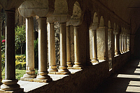 0359604 © Granger - Historical Picture ArchiveART & ARCHITECTURE.   The columns of the cloister, Fossanova Abbey (12th-13th century), Priverno, Lazio, Italy. Full Credit: De Agostini / A. De Gregorio / Granger, NYC -- All righ
