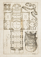 0359913 © Granger - Historical Picture ArchiveART & ARCHITECTURE.   Floor plan of the Basilica of San Gaudenzio in Novara, engraving by Paolo Bianchi from The Triumph of St Gaudenzio First Bishop of Novara, by Girolamo Antonio Prina(1660-1723), 1711, Malatesta Publishing, Milan. Italy, 18th century. Full Credit: De Agostini Picture Library / Granger, NYC -- All Rights Reserved.