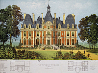 0360159 © Granger - Historical Picture ArchiveART & ARCHITECTURE.   House in Normandy, design by Victor Petit (1817-1871) from French Country Homes. France, 19th century. Full Credit: De Agostini Picture Library / Granger, NYC -- All Rights Reserved.