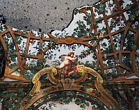 0360217 © Granger - Historical Picture ArchiveART & ARCHITECTURE.   Pergola with cherubs, by Fedele Fischetti (1734 -1789), fresco, Villa Campolieto (18th century), Ercolano, Campania, Italy. Detail. Full Credit: De Agostini Picture Library / Granger, NYC -- All rights reserved.