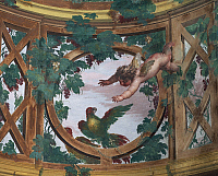 0360219 © Granger - Historical Picture ArchiveART & ARCHITECTURE.   Pergola with cherubs, by Fedele Fischetti (1734 -1789), fresco, Villa Campolieto, Ercolano, Campania, Italy. Detail. Full Credit: De Agostini Picture Library / Granger, NYC -- All rights reserved.