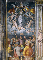 0360232 © Granger - Historical Picture ArchiveART & ARCHITECTURE.   Assumption of the Virgin, 1529-34, by Gaudenzio Ferrari (1475-1573), Church of Saint Christopher, Vercelli, Piedmont, Italy. Full Credit: De Agostini / A. De Gregorio / Granger, NYC -- All rights reserved.