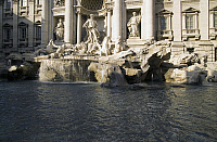 0360347 © Granger - Historical Picture ArchiveART & ARCHITECTURE.   View of the Trevi fountain (18th century), designed by Nicola Salvi (1697-1751), Rome (UNESCO World Heritage List, 1980), Lazio, Italy. Full Credit: De Agostini / S. Vannini / Granger, NYC -- All rights reserved.