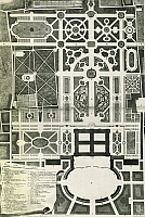 0360697 © Granger - Historical Picture ArchiveART & ARCHITECTURE.   General floor plan of the Royal Palace of Caserta, project design by Luigi Vanvitelli (1700-1773) from Design statement for the Royal Palace of Caserta, Table I, Naples, 1756. Italy, 18th century. Full Credit: De Agostini / F. Tanasi / Granger, NYC -- All rights reserved.