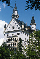 0360993 © Granger - Historical Picture ArchiveART & ARCHITECTURE.   Neuschwanstein Castle (19th century), Fussen, Bavaria, Germany. Full Credit: De Agostini / A. Dagli Orti / Granger, NYC -- All rights reserved.