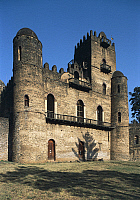 0361202 © Granger - Historical Picture ArchiveART & ARCHITECTURE.   King Fasilides' Castle (17th century), Fasil Ghebbi (Unesco World Heritage List, 1979), Gondar, Amhara Region, Ethiopia. Full Credit: De Agostini / C. Sappa / Granger, NYC -- All rights reserved.