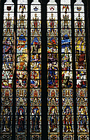 0361305 © Granger - Historical Picture ArchiveART & ARCHITECTURE.   Stained glass window, Church of Sainte-Walburge (1230-1280), Furnes, Belgium. Full Credit: De Agostini / W. Buss / Granger, NYC -- All rights reserved.