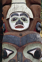 0361877 © Granger - Historical Picture ArchiveART & ARCHITECTURE.   Indian totem, Prince Rupert, British Columbia, Canada. Detail. Full Credit: De Agostini / G. Carfagna / Granger, NYC -- All rights reserved.