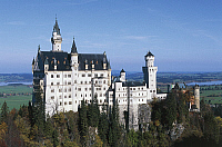 0361880 © Granger - Historical Picture ArchiveART & ARCHITECTURE.   Neuschwanstein Castle (19th century), Fussen, Bavaria, Germany. Full Credit: De Agostini / W. Buss / Granger, NYC -- All rights reserved.