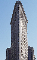 0362064 © Granger - Historical Picture ArchiveART & ARCHITECTURE.   Flat Iron Building (1902-1903), designed by Daniel Hudson Burnham (1846-1912), Manhattan, New York, New York, United States. Full Credit: De Agostini / L. Romano / Granger, NYC -- All rights reserved.