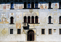 0362169 © Granger - Historical Picture ArchiveART & ARCHITECTURE.   Facade painted by Marcello Fogolino, Palazzo Geremia (15th-16th century), Trento, Trentino-Alto Adige, Italy. Full Credit: De Agostini / C. Gerolimetto / Granger, NYC -- All Rights Reserved.