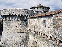 0362417 © Granger - Historical Picture ArchiveART & ARCHITECTURE.   The Firmafede Fortress, built by the Republic of Florence after the war of Sarzana (1487-1492), Sarzana, Liguria, Italy. Full Credit: De Agostini / L. Visconti / Granger, NYC -- All rights reserved.