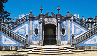 0362712 © Granger - Historical Picture ArchiveART & ARCHITECTURE.   Entrance to the garden of Estoi Palace (19th century) decorated with azulejos tiles, Estoi, Faro district, Algarve, Portugal. Full Credit: De Agostini / W. Buss / Granger, NYC -- All rights reserved.